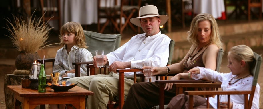 Family safari at Governors Camp in Kenya