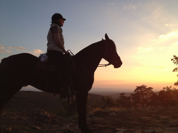 Alex riding in South Africa
