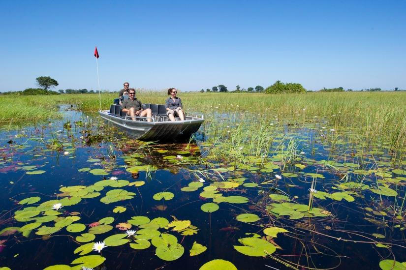 Luxury safari in the Okavango Delta