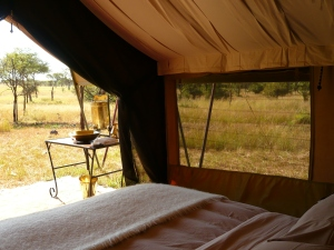 Waking up in a luxury tented camp