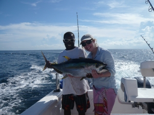 Alex fishing in Mozambique