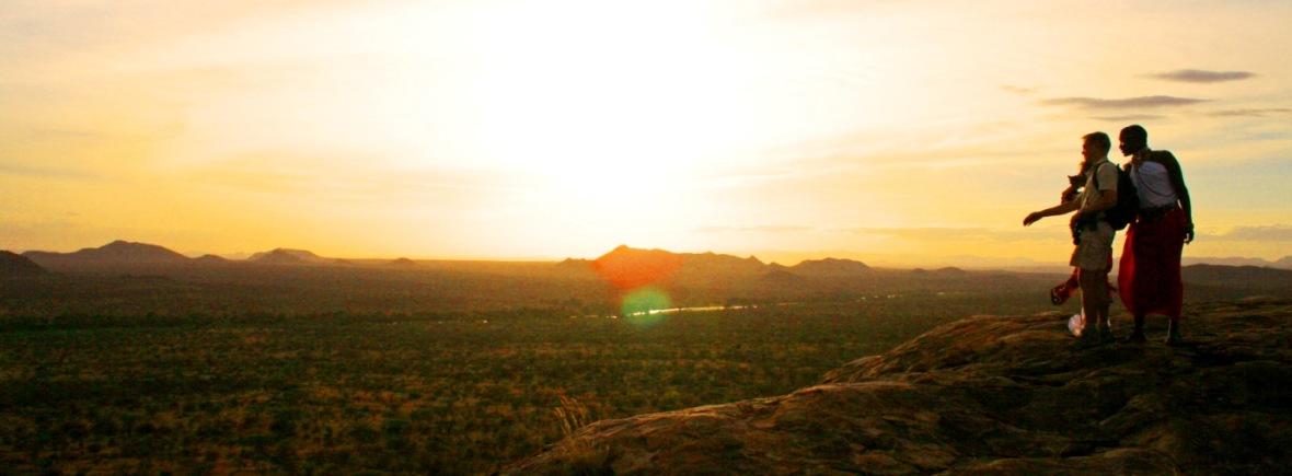 Sundowner on safari in Kenya