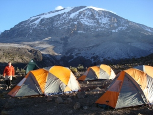 Sleeping tents on Mount Kilimanjaro