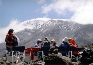 Lunch on Mount Kilimanjaro