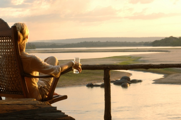 Looking out from Sand Rivers, Selous Game Reserve