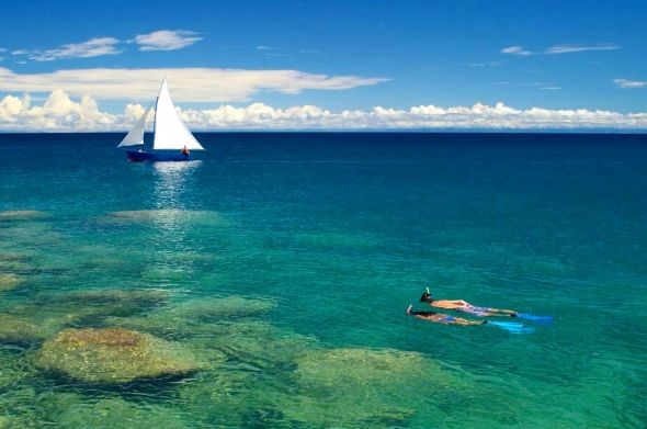 Snorkelling on Lake Malawi