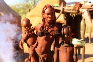 Himba family in Namibia