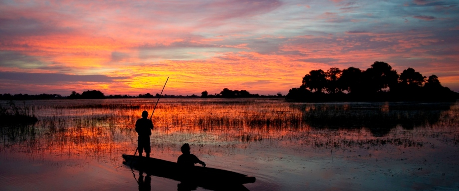 Sunset Mokoro trip in the Okavango Delta