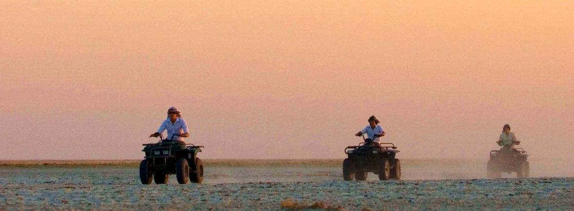 Luxury safari on the Makgadikgadi Pans, Botswana