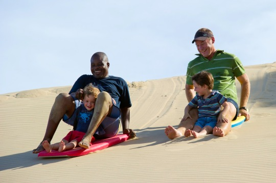 Dune boarding at Rocktail