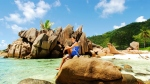 Beach holiday on La Digue