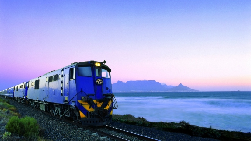 On the Blue Train in South Africa