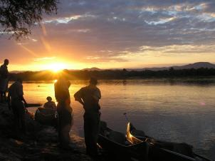 Canoe safari on the Zambezi
