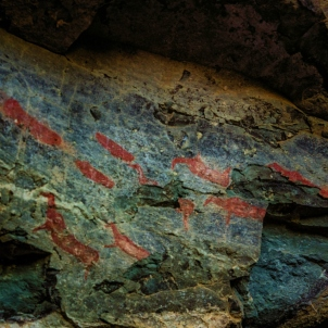 Bushman Paintings near Montusi Mountain Lodge