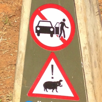 One of the things we loved about our visit was how wonderfully straightforwards the South Africans were. There was none of the unnecessary euphemisms we encounter with British officialdom- this sign says it all!