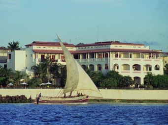 Zanzibar Serena Inn from offshore