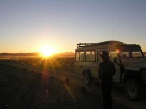 Watching sunrise at Sossusvlei