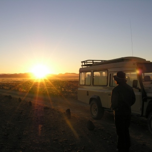 Watching sunrise at Sossusvlei