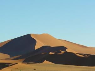 Watching sunrise in the Namib Desert