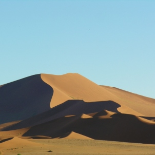 Watching sunrise in the Namib Desert
