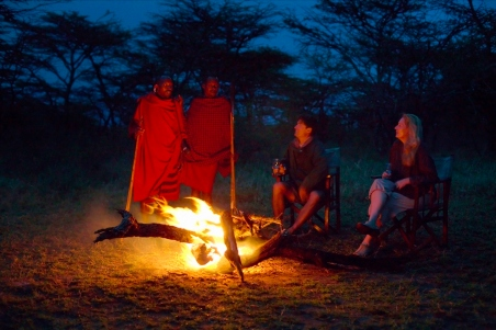 Sundowners after safari at Sayari
