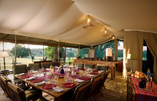 Mess tent at Kicheche Mara Camp