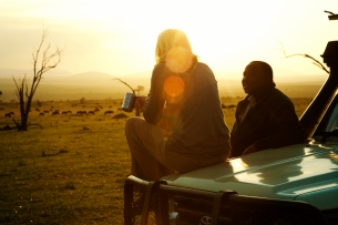 Sundowners at Serengeti Safari Camp
