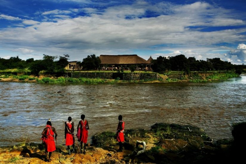 View of Karen Blixen Camp, Masai Mara