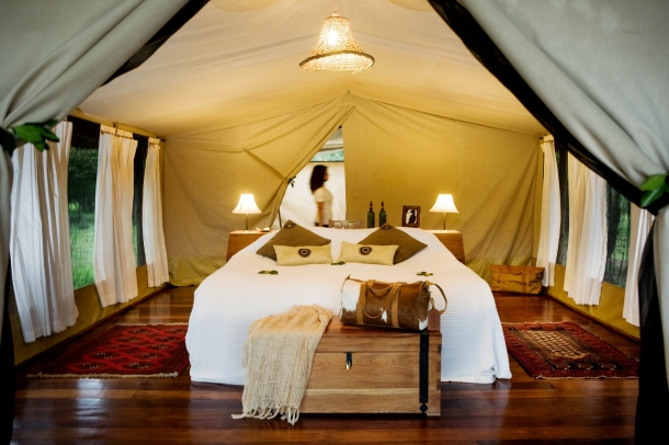 Tent at at Karen Blixen Camp, Masai Mara