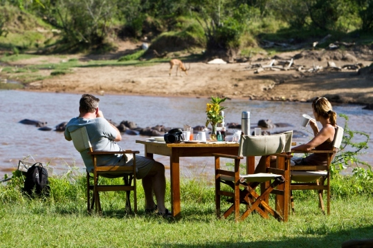Lunch at Karen Blixen Camp, Masai Mara