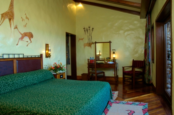 Double room at the Ngorongoro Serena