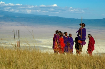 Maasai jumping near the Ngorongoro Serena