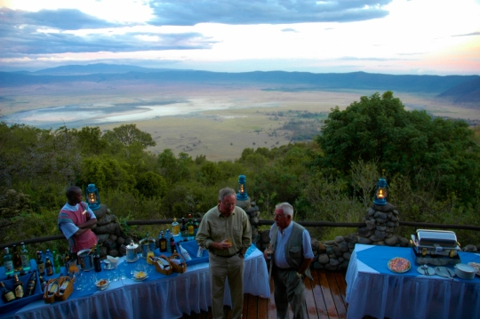 Welcome drink at the Ngorongoro Serena