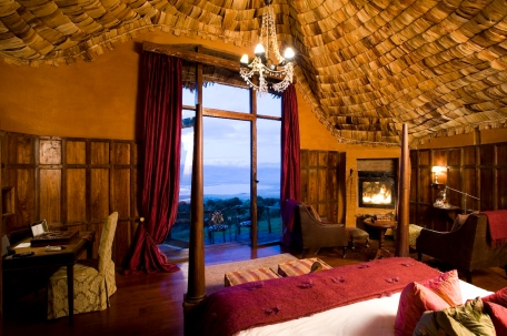 Bedroom at Ngorongoro Crater Lodge