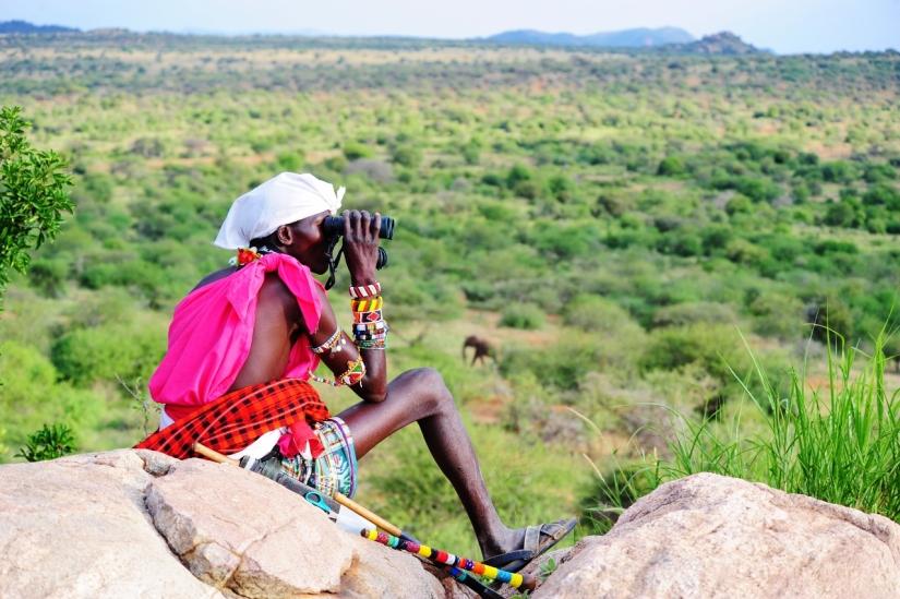 Looking out over the bush on a Karisia Safari