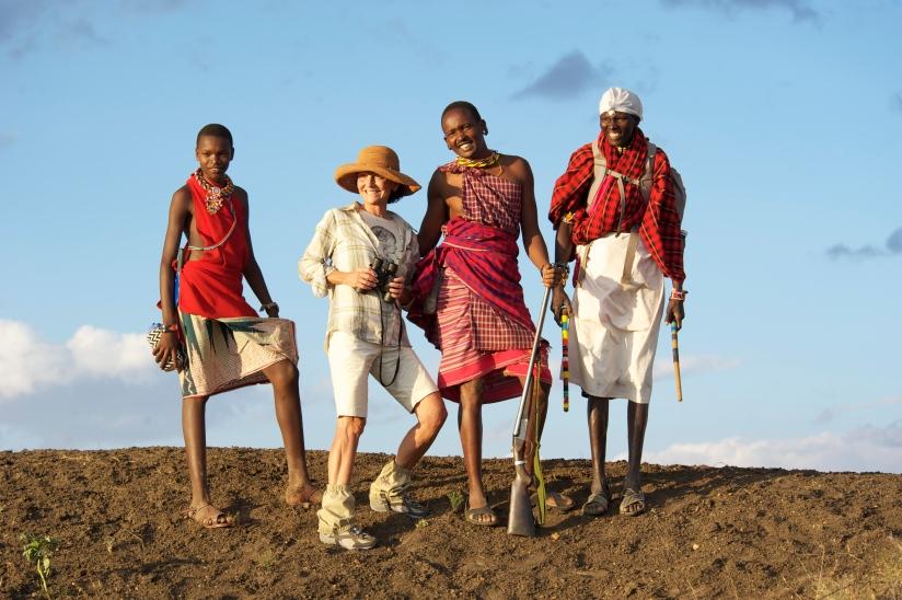 Walking on a Karisia Safari