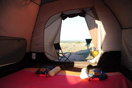 Dome tent on a Karisia Safari