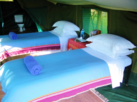 Twin safari tent at Ol Pejeta Bush Camp
