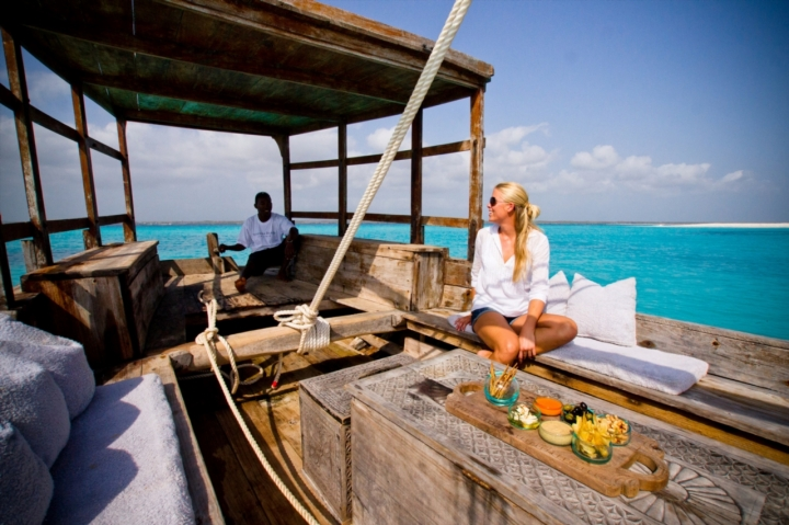 Dhow at Mnemba Island Lodge