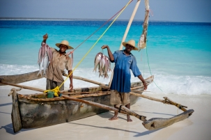 Fishermen at Mnemba Island Lodge