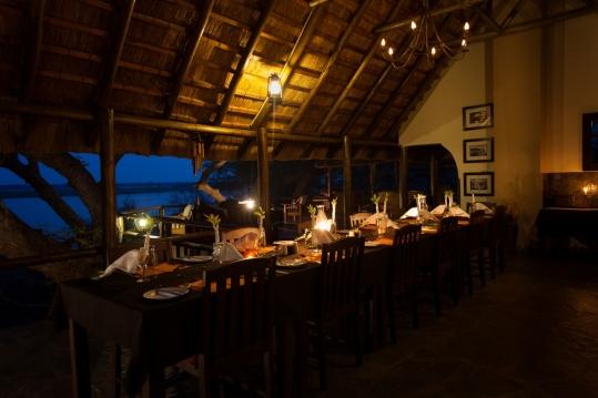 Dinner at Kasaka River Camp