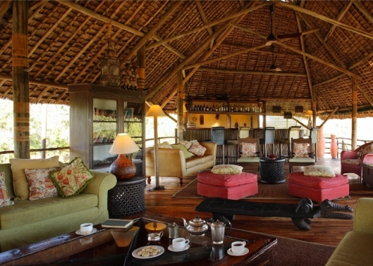 Lounge at Siwandu Safari Camp