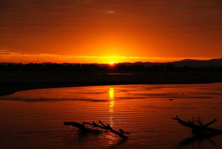 Sunset at Island Bush Camp