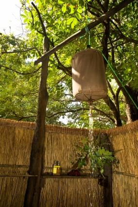 Bucket Shower at Island Bush Camp