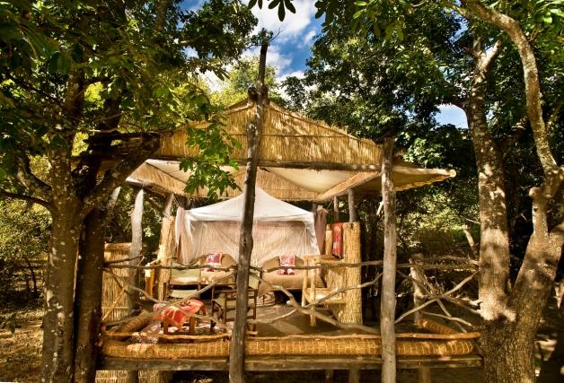 Bedroom at Island Bush Camp