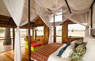 Bedroom at Lion Camp