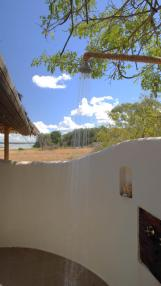 Outdoor shower at Siwandu Safari Camp