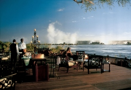 Deck at the Royal Livingstone, Victoria Falls