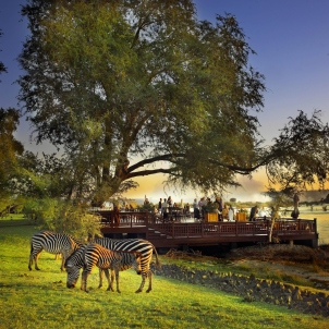 Gardens at the Royal Livingstone, Victoria Falls