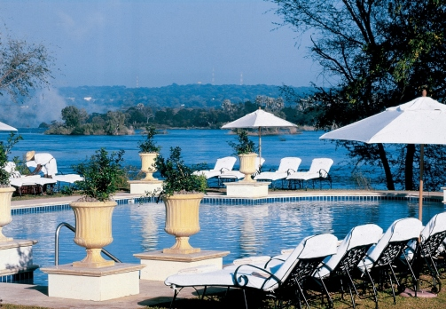 Pool at the Royal Livingstone, Victoria Falls
